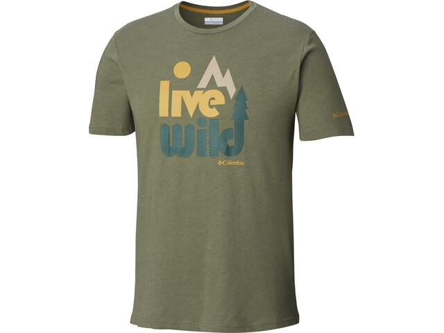 19ebb005e5794 ... Columbia Terra Vale - Camiseta manga corta Hombre - Oliva. Columbia ...